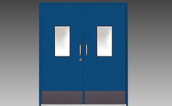 Blue Hinged HMPS Door, For Commercial