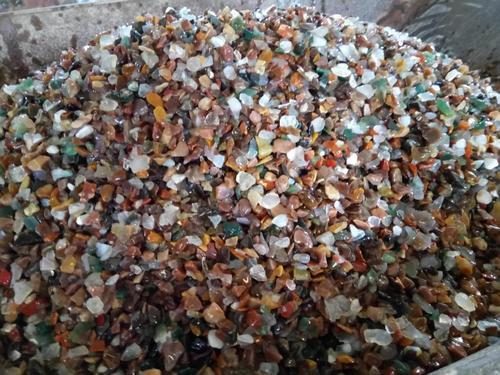 Good dark color mix agate natural polished chips, Packaging Type: 20 kg, A