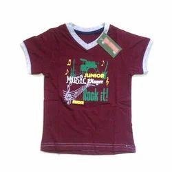 Cotton Kids V Neck T-Shirt