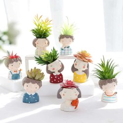 Mini Small Bonsai Flower Pot Round For Succulents Planter Home Garden Decor