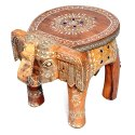 Wooden Elephant Stool Showpiece Decorative Piece