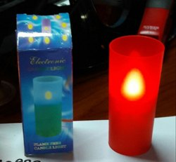 LD-3423 LED Glass Candle (Red Or Yellow)