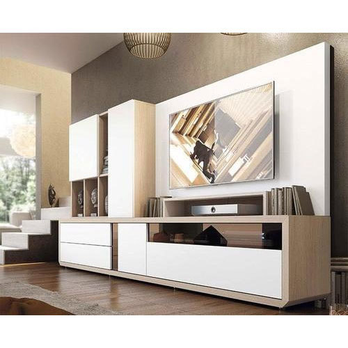 Wooden Wall Units For Living Room: Wooden White Wall Mounted TV Unit, Rs 1000 /square Feet