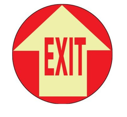 Exit Floor Decal