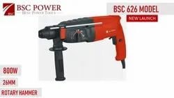 Bsc Power 26 Mm Rotary Hammer, Model Name/Number: 626, 800 Watts