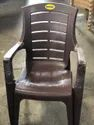 Black With Hand Rest (arms) Dangal Plastic Chair