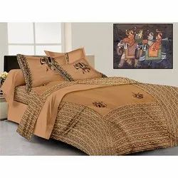 dashing look pure Cotton  Patch Work Double Bed Sheet