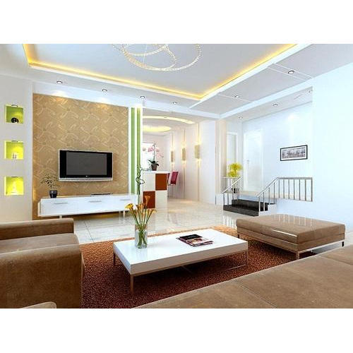 Interior Design Hall And Kitchen: Living Room False Ceiling Designing In Choolaimedu