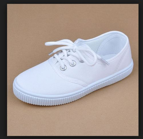 White Girls School Canvas Shoes, Rs 198
