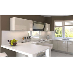 U Shaped PVC Kitchen Cabinet