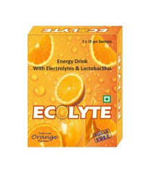 Electrolyte and Lactobacillus Energy Drink Powder Sachet