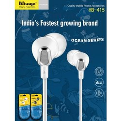 Mobile White Hitage Wired Earphone, Model Name/Number: Hb 415