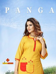 Panga Heavy Rayon Flex With Work Ready made Top With Palazzo for Festival