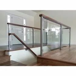 Toughened Glass Staircase, For Residential