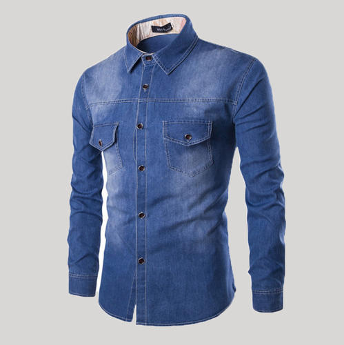 136f36d24d0 Small And Plus Slim Denim Shirt - Mens Fitted Denim Shirt Guys Denim Shirt
