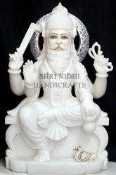 White Marble Lord Vishwakarma Statue