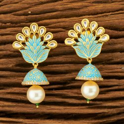 Classic Kundan Gold Plated Jhumki Earring 350085
