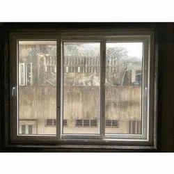 Polished UPVC Glass Sliding Window