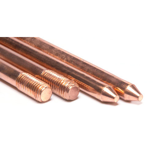 Polished Copper Bonded Earthing Rod