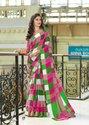 Nakshatra Silk Cotton Silk Checks Print Saree Catalog Collection