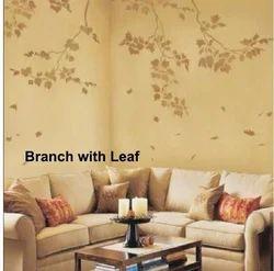 Big Stencils Branch With Leaf