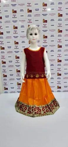 fda8a2337c Designer Pattu Pavadai - Girls Pattu Sleeveless Pavadai Manufacturer ...