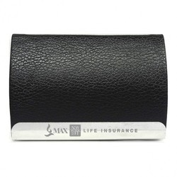Black Leather Visiting Card Holder