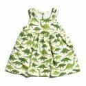 GRS Recycle Cotton Kids Printed Frocks