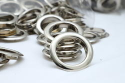 Round Silver Eyelet Ring for Curtain