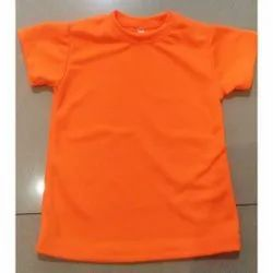 Round Half Sleeves Kids T-Shirt, Size: 3-5 Years