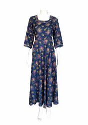 Sheenaz Ethnic Rayon Gown, Age Group: 25-80
