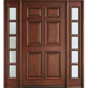 Hinged Brown Wooden Door