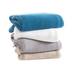 Woven Indian Cotton Throw Blankets
