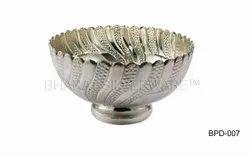 Pure Silver Nakshi Pedestal Bowl