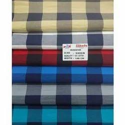 Checkered 148 CM Nakoda 3008 Cotton Check Shirting Fabric, GSM: 100-150 GSM