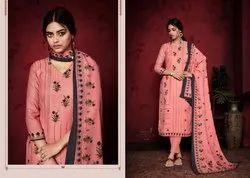 Sargam Present Kashish Pashmina Designer Foil Printed Dress Materials