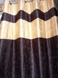 Polyester Self Design Exclusive Readymade Curtains Door E 110, Size: Width 4 Feets X Height 7 Feets