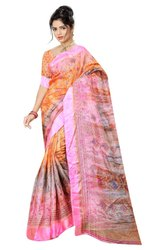 YNF Present Sanjula Silk Casual Wear Satin Patta Style Saree