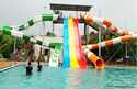 Frp Blue And Yellow Swimming Pool Slide