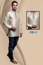 Gold Rich Silk Kurta for Gents