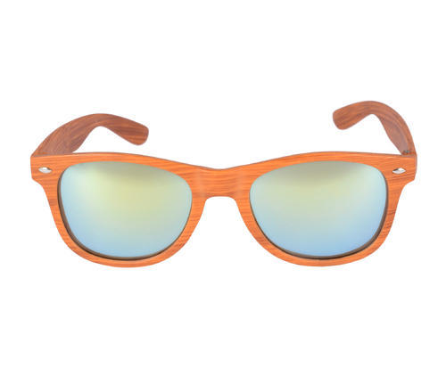 SD Jaxson Male and Female Artificial Wood Wayfarer Sunglasses, Size: Medium (50-13-135)