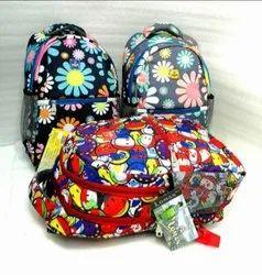 Unisex Printed Flower School Backpack, Capacity: 27 L