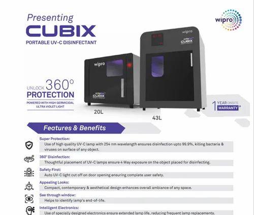 Cubix Portable Uv-c Disinfectant - Cvoid-19