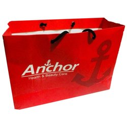 Red Printed Paper Carry Bag