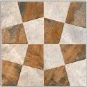 Matt Ceramic Designer Bathroom Floor Tiles, Square