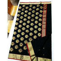 Party Wear Printed Ethnic Traditional Chanderi Saree, 6.5 meter, With Blouse Piece