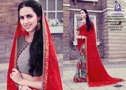 Rachna Georgette Shakira Catalog Saree Set For Woman 5