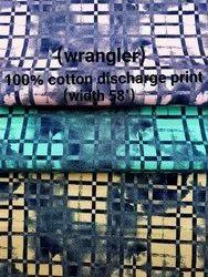 Carbon Finish Discharge Print (Wrangler ) Shirting Fabric