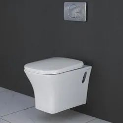 Closed Front White Wall Hung Toilet Seat