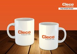 C-shape Logo CoffeMug Printing, For Branding, Size: 130 Mm